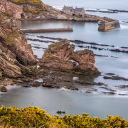 Cove Harbour, East Lothian, Schottland