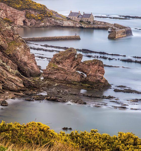 Cove Harbour, East Lothian, Schottland