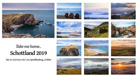 """Wandkalender """"Schottland 2019"""""""